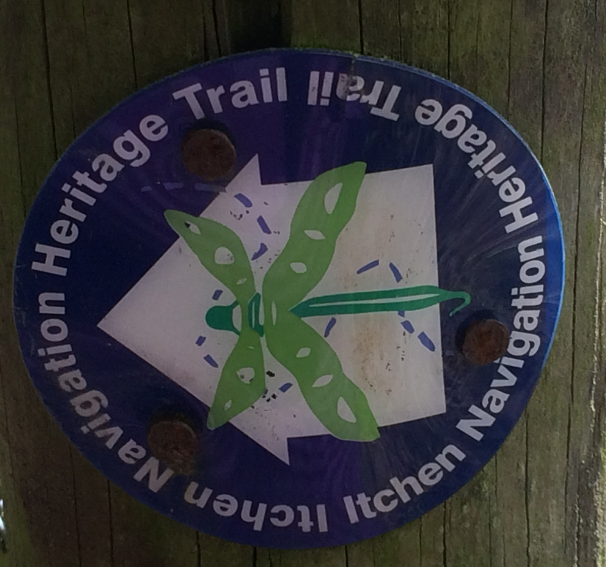 Itchen Navigation Heritage Trail signs